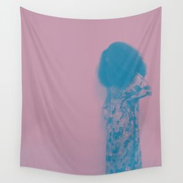 Afro Retro Moments Mauve & Teal Wall Tapestry