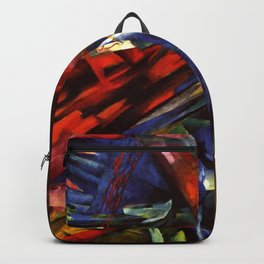 """Franz Marc """"The fate of the animals"""" Backpack"""