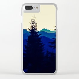 Mountains in North Vancouver under Smokey Skies Clear iPhone Case