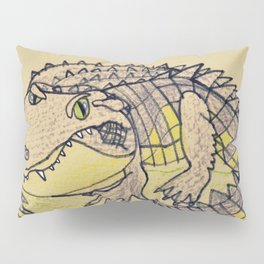 Grumpy Gator Pillow Sham