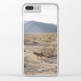 Panamint Valley Coyotes Clear iPhone Case
