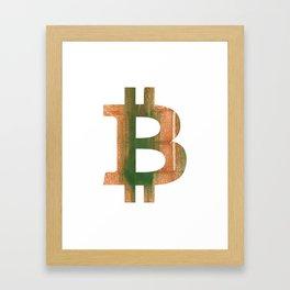 Bitcoin Peru green streaked wash drawing Framed Art Print