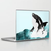killer whale Laptop & iPad Skins featuring The Killer Whale  by Jasmine Smith