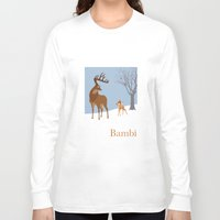 bambi Long Sleeve T-shirts featuring Bambi by TheWonderlander