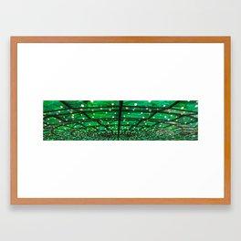 Green Everywhere Framed Art Print