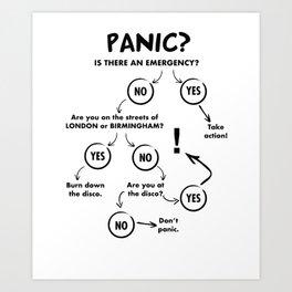 Panic Attack Art Print