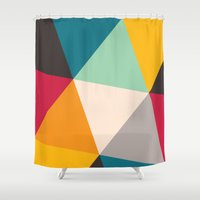 triangles Shower Curtains featuring Triangles by Gary Andrew Clarke