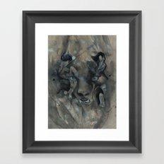 The Black Leopard Framed Art Print