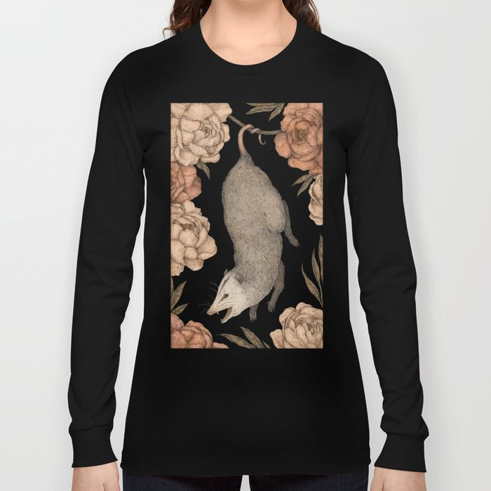 The Opossum and Peonies Long Sleeve T-shirt