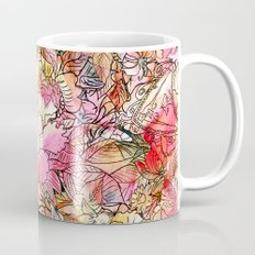 Summer Flowers | Colorful Watercolor Floral Pattern Abstract Sketch Mug