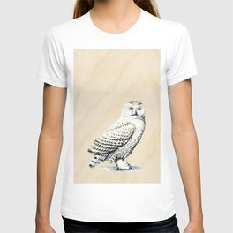 Vintage Owl on Wood T-shirt