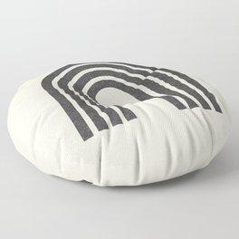 Woodblock arch Floor Pillow