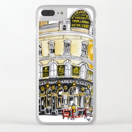 Old Blue Last Pub Clear iPhone Case