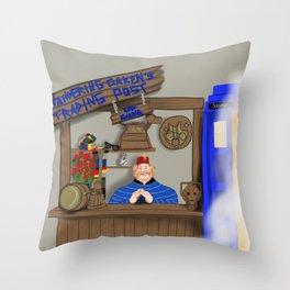 HOO-WHO Throw Pillow