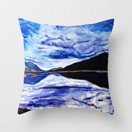 Road Trip Blues Throw Pillow