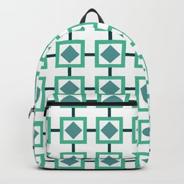 BOXED IN, TURQUOISE Backpack