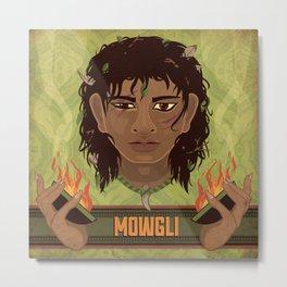 Mowgli Metal Print