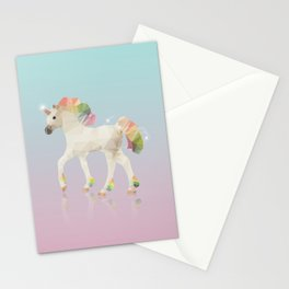 Colorful Unicorn Low Poly Polygonal Illustration Stationery Cards