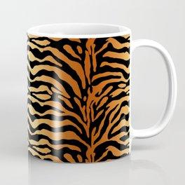 Tiger Stripes Animal Print in Rust Brown, Amber, Black and Tan Coffee Mug