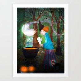 witch illustration Art Print
