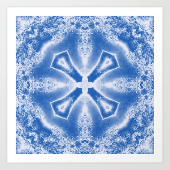 Kaleidoscope in Blue Art Print