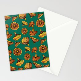 Mushroom Pattern | Woodland Fungi | Rovellones Stationery Cards