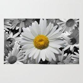 Cheerful Daisy Flower A197 Rug