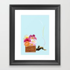laid back Framed Art Print