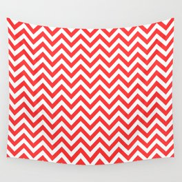 Coral Chevron Wall Tapestry