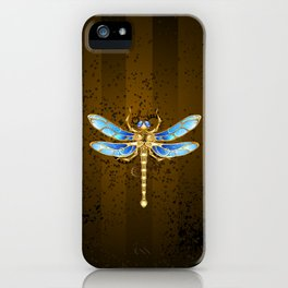 Mechanical Dragonfly ( Steampunk ) iPhone Case