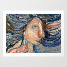 Ocean child Art Print