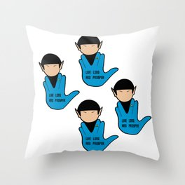 SPOCK: LIVE LONG AND PROSPER Throw Pillow