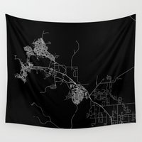 darwin Wall Tapestries featuring Darwin map Australia by Line Line Lines