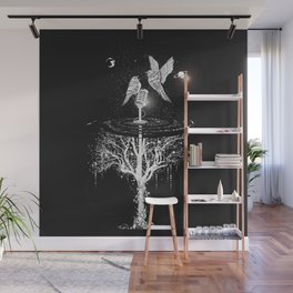 Two birds with microphone Wall Mural