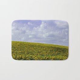 Field of Happiness - Sunflowers  Bath Mat