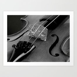 Strings - Black and White Violin Part One A621 Art Print