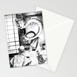 Long neck yokai Stationery Cards
