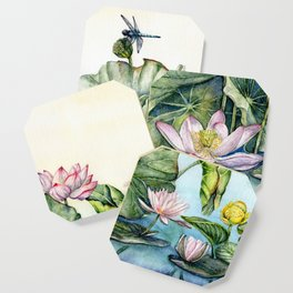 Japanese Water Lilies and Lotus Flowers Coaster