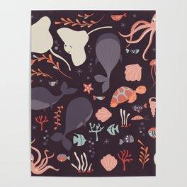 Sea creatures 002 Poster