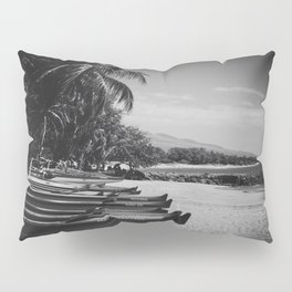Sugar Beach Hawaiian Outrigger Canoes Kihei Maui Hawaii Pillow Sham