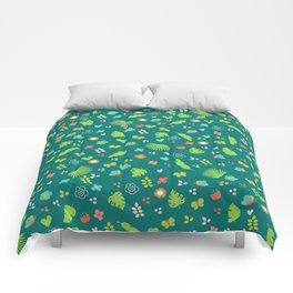 Tropical flowers Comforters