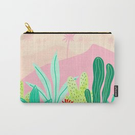 Oasis - Pink and Green Carry-All Pouch
