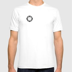 Symbol 2 SMALL White Mens Fitted Tee