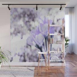 Pastel Periwinkle Flowers Wall Mural