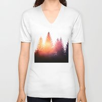 skyfall V-neck T-shirts featuring Morning Glory by Tordis Kayma