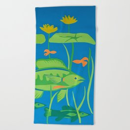 In the Shallows Beach Towel