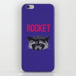 R IS FOR ROCKET, R IS FOR RACOON iPhone Skin