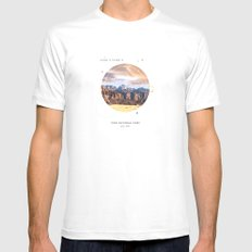 National Parks: Zion Mens Fitted Tee White MEDIUM
