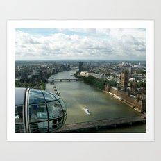 A London Eye's View Art Print