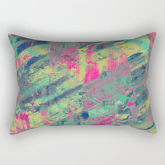 Colour Relaxation - Abstract, textured oil painting Rectangular Pillow
